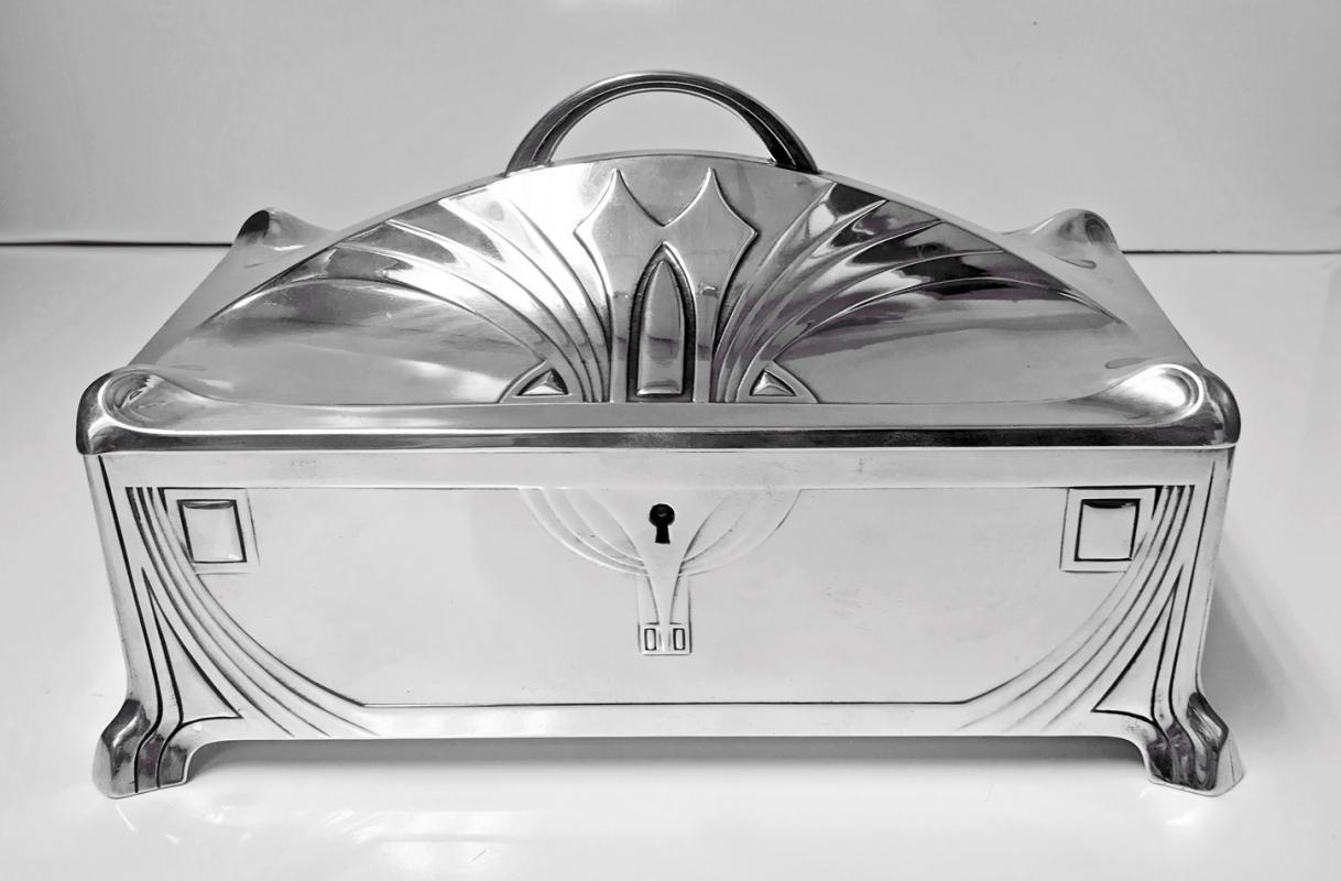 WMF Jugendstil Secessionist large Jewellery or Cigar Box, Germany, C.1906