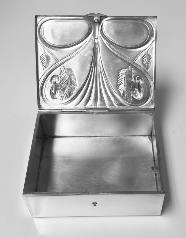 Jugendstil Nouveau Jewellery or Cigarette Box, WMF Germany C.1906