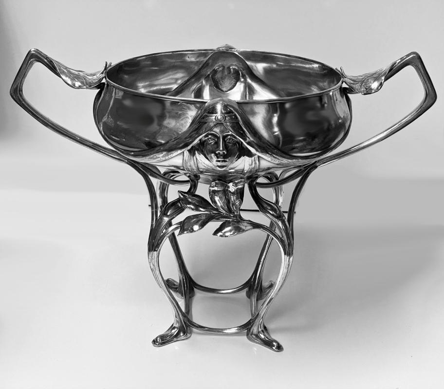 Hugo Leven Silver Plated Centrepiece Jardiniere Germany Circa 1890