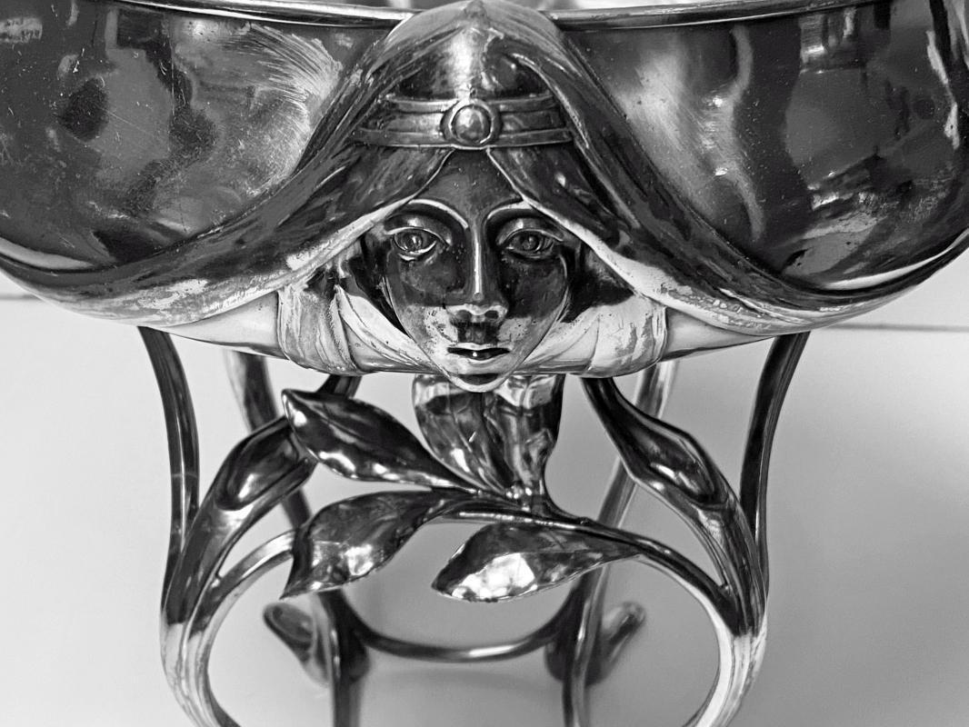 Hugo Leven Silver Plated Centrepiece Jardiniere Germany Circa 1890