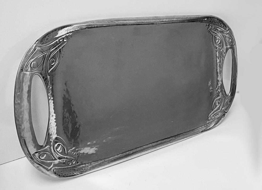 Rare Archibald Knox Liberty & Co Tudric Tray, C.1905.