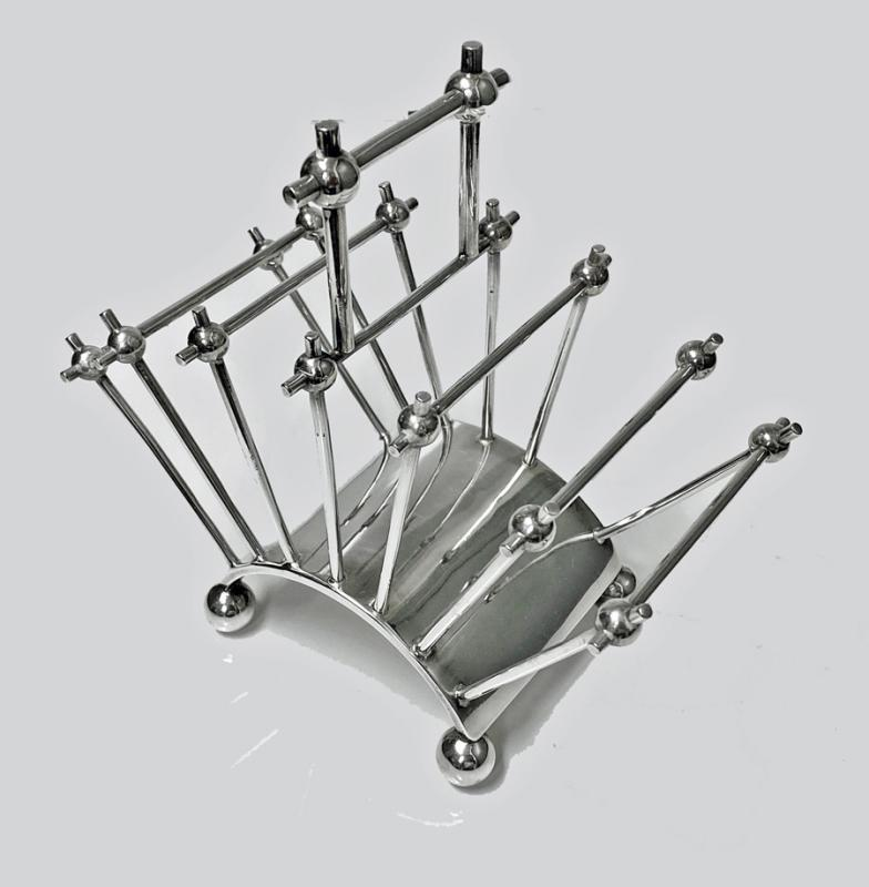 Christopher Dresser design Toast or Letter Rack, C.1890 by John Wigfall