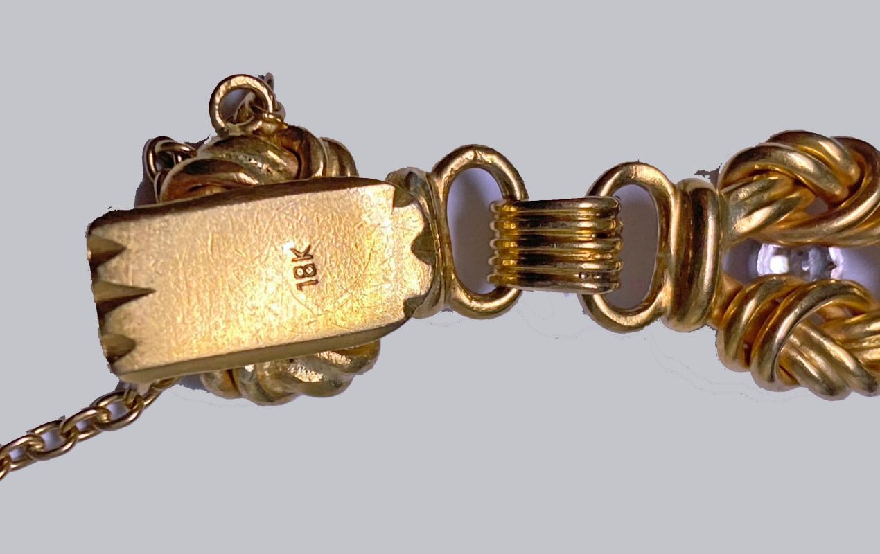 Antique 18K Diamond Bracelet, C.1900