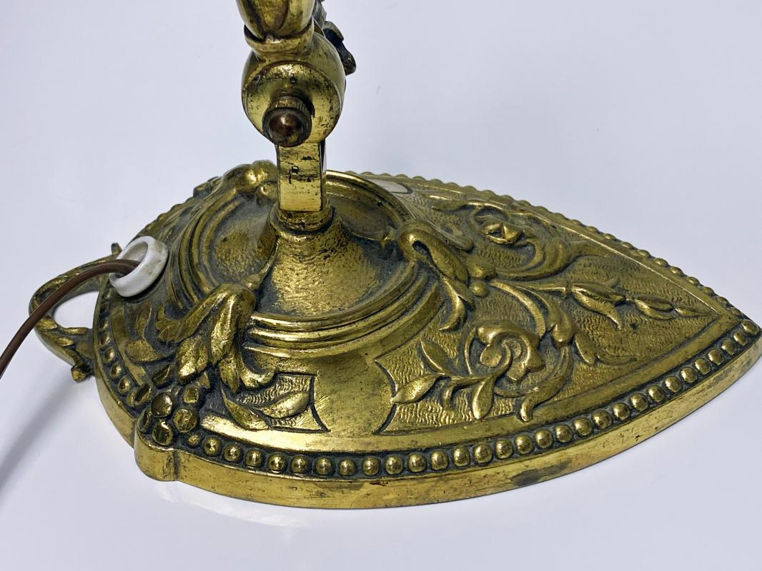 French Art Nouveau bronze table desk Lamp, C.1920.