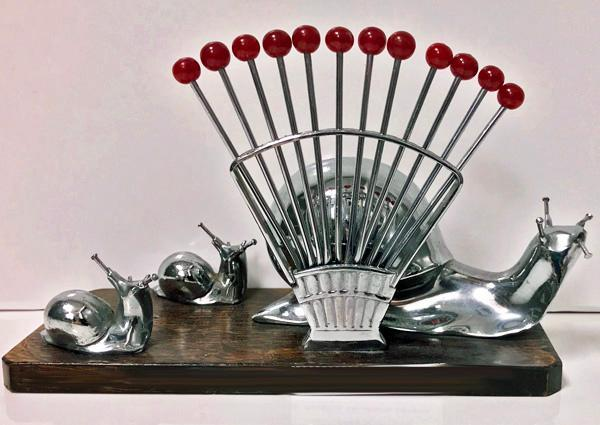 Art Deco French Barware Cocktail Set, C.1930