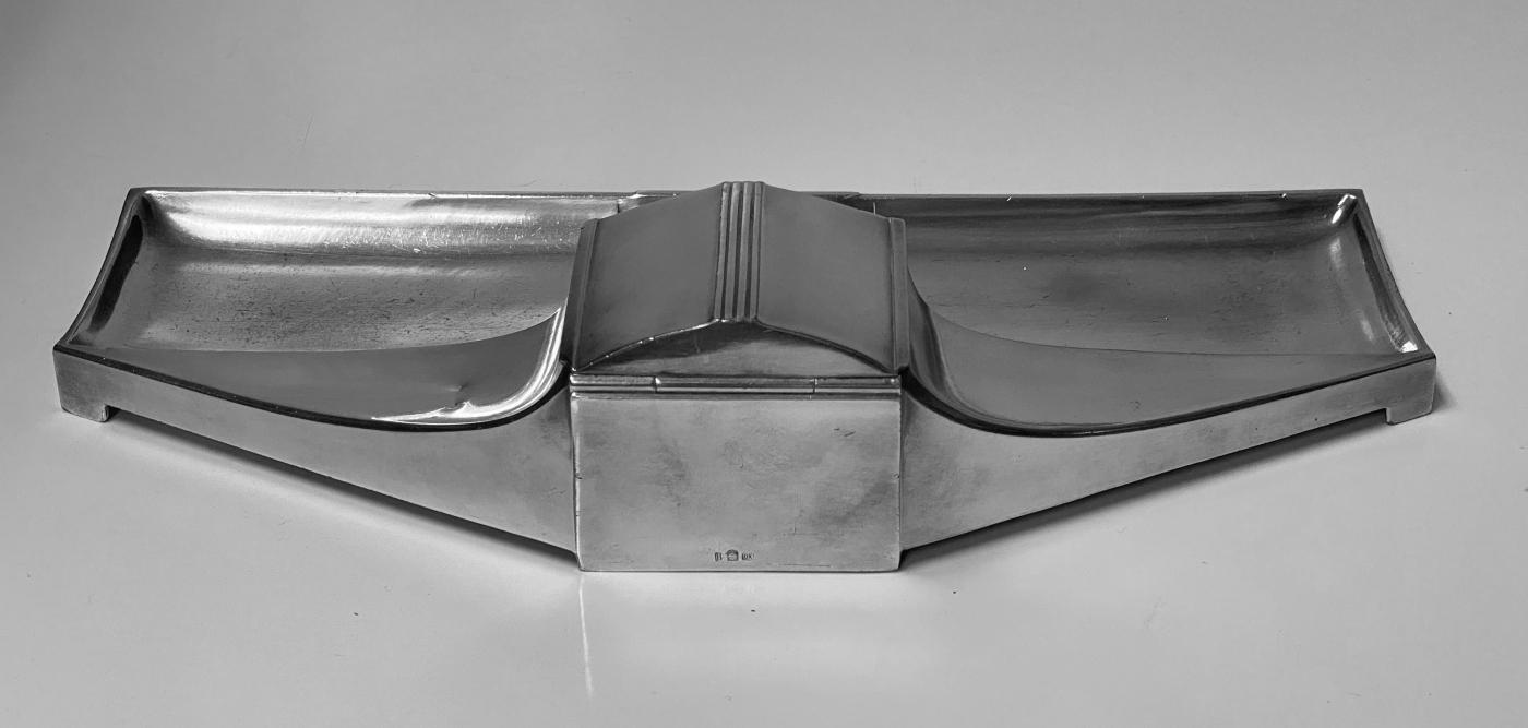 W.M.F Jugendstil Pewter Inkstand, Germany C.1910.