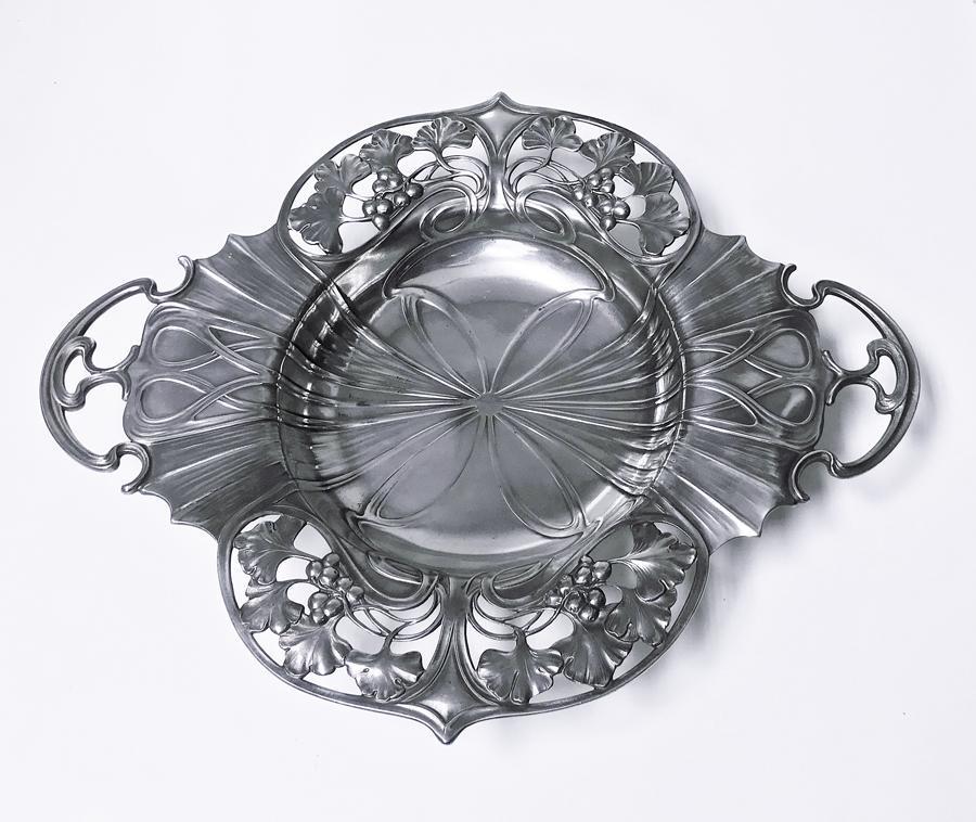 WMF Art Nouveau Pewter Two Handled Dish Bowl, Germany, circa 1900