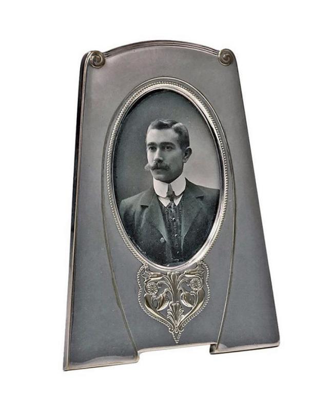 W.M.F Art Nouveau Silver Plate Frame, Germany C.1910