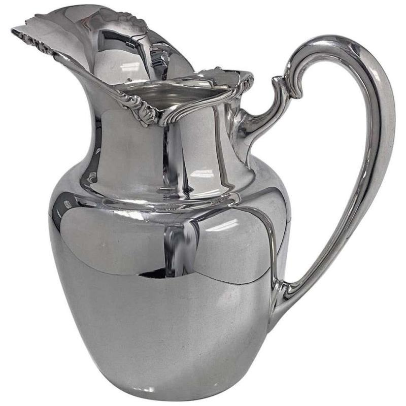 1950s Camusso Sterling Silver Water Pitcher, Lima, Peru