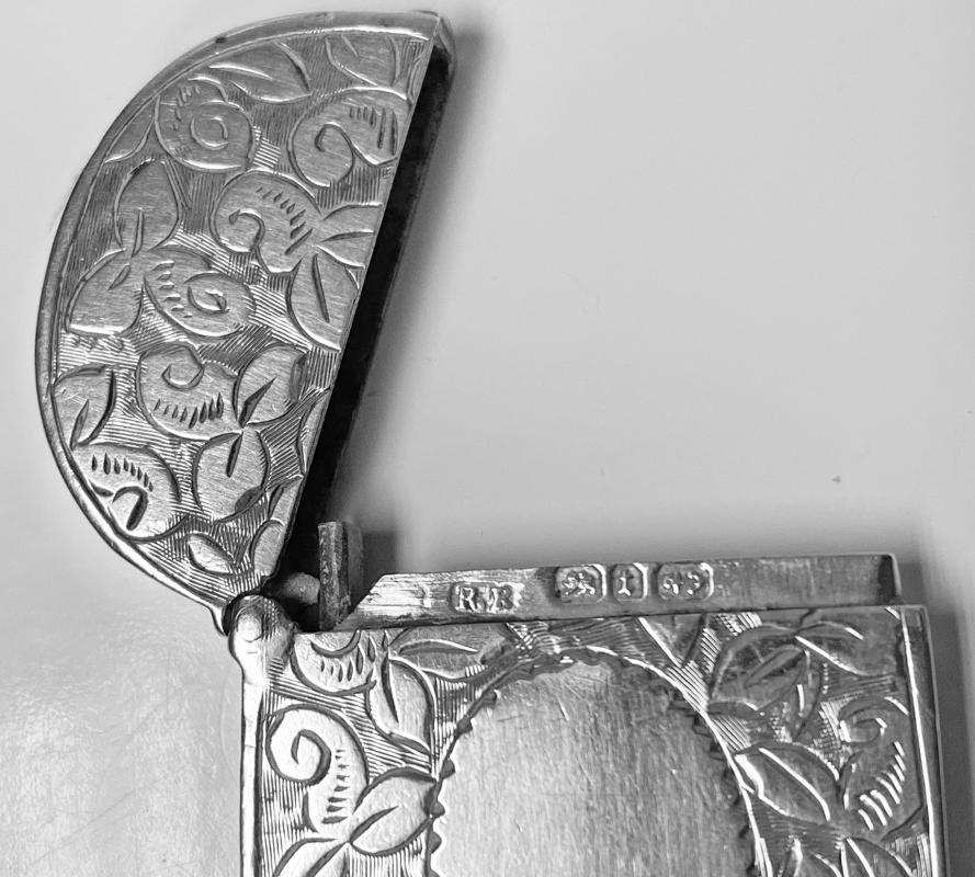 Antique Silver Vesta Birmingham 1893 Rolason Bros