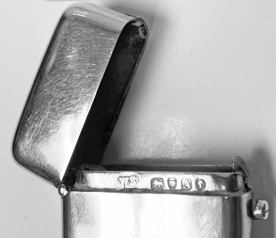 Antique Silver Vesta London 1876 William Summers.