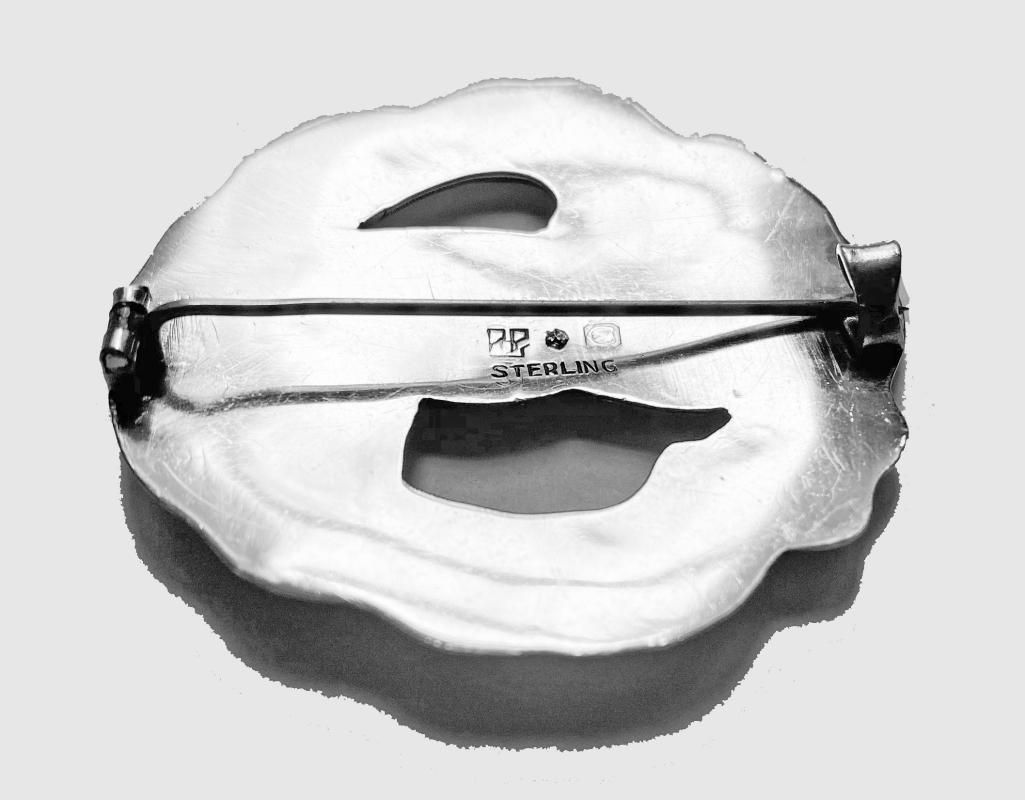 Carl Poul Petersen large Sterling Silver Dove Brooch C.1930.