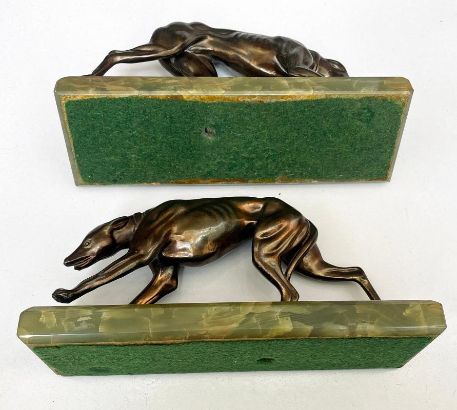 Pair Art Deco Bronze Bookends France C.1930.