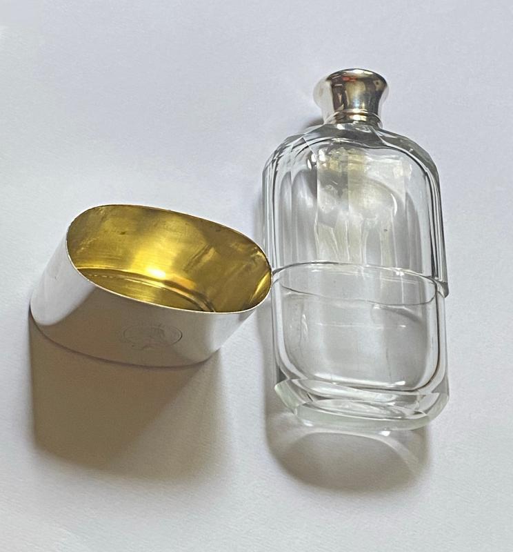 Asprey English hallmarked Silver hip flask, London 1867