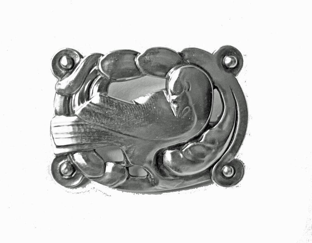 Georg Jensen Silver Dove Brooch Denmark C.1925