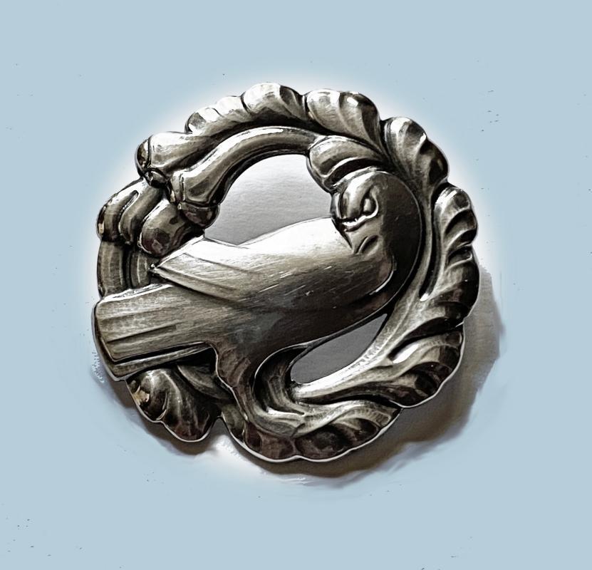 Georg Jensen Sterling Silver Dove Brooch