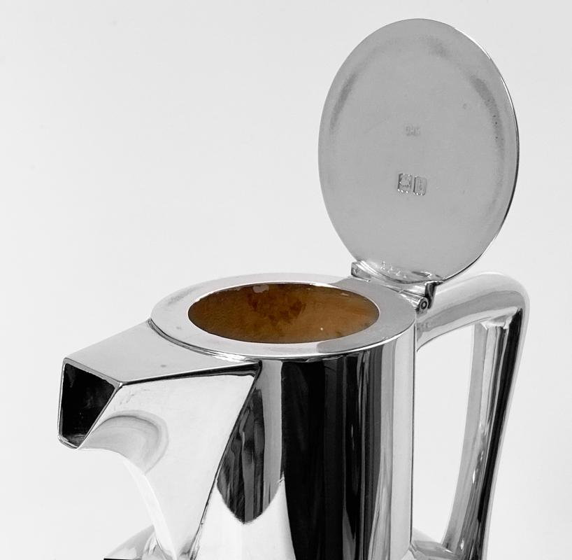 Christopher Dresser Silver Glass Claret Jug London 1897 Heath and Middleton