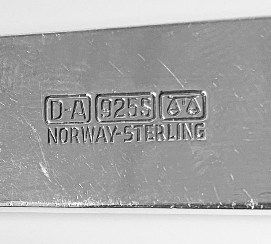 David Andersen Sterling Silver Servers Norway C.1960.