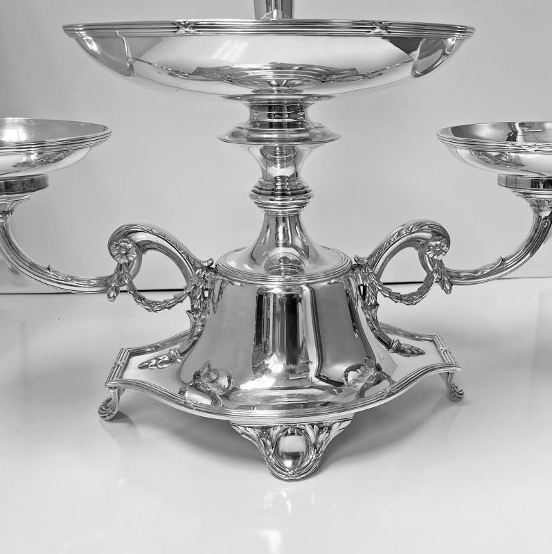 Elkington Silver plate Centerpiece Epergne for Fruit and Flowers, 1925