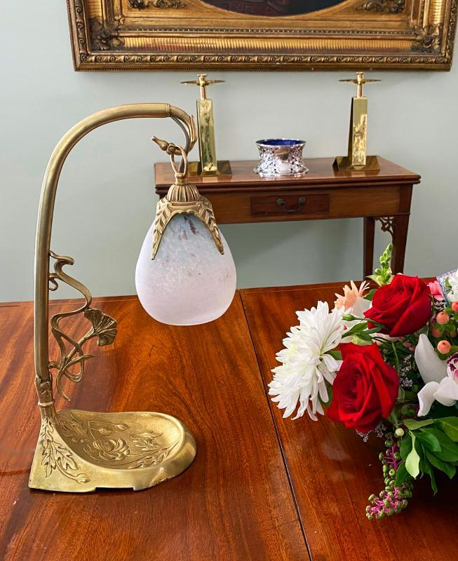 French Art Nouveau desk table lamp by Charles Schneider C.1920