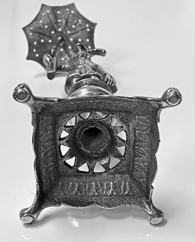 Antique Silver toothpick holder Rio de Janeiro Brazil circa 1850
