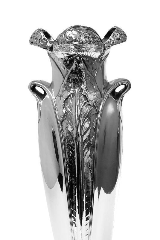 Art Nouveau Christofle Silver Plate Vase, France C.1900