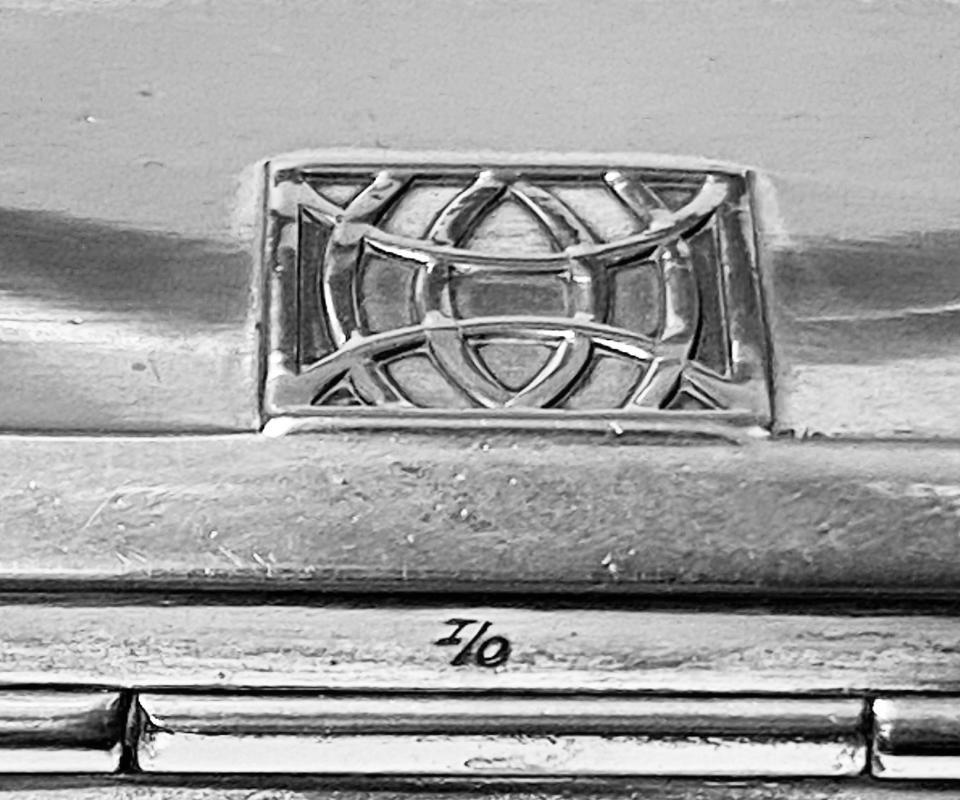 WMF Jugendstil secessionist silvered pewter Box Germany, circa 1900