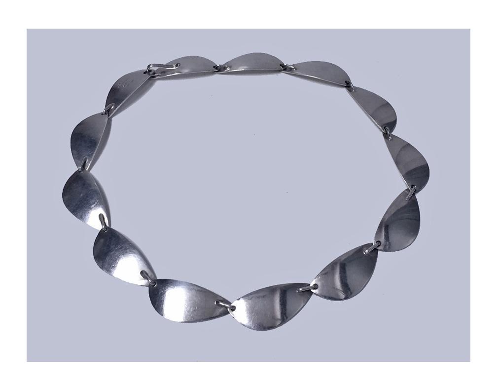 Hans Hansen sterling silver necklace Denmark C.1968