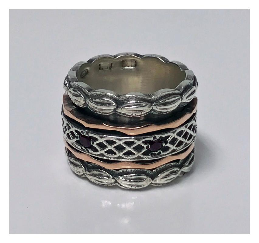 1940's Gold and Silver Spinner Ring.