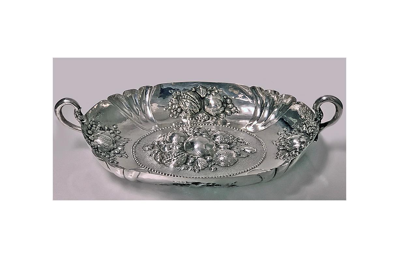 17th century style Silver Fruit Dish, Germany Neresheimer C.1880