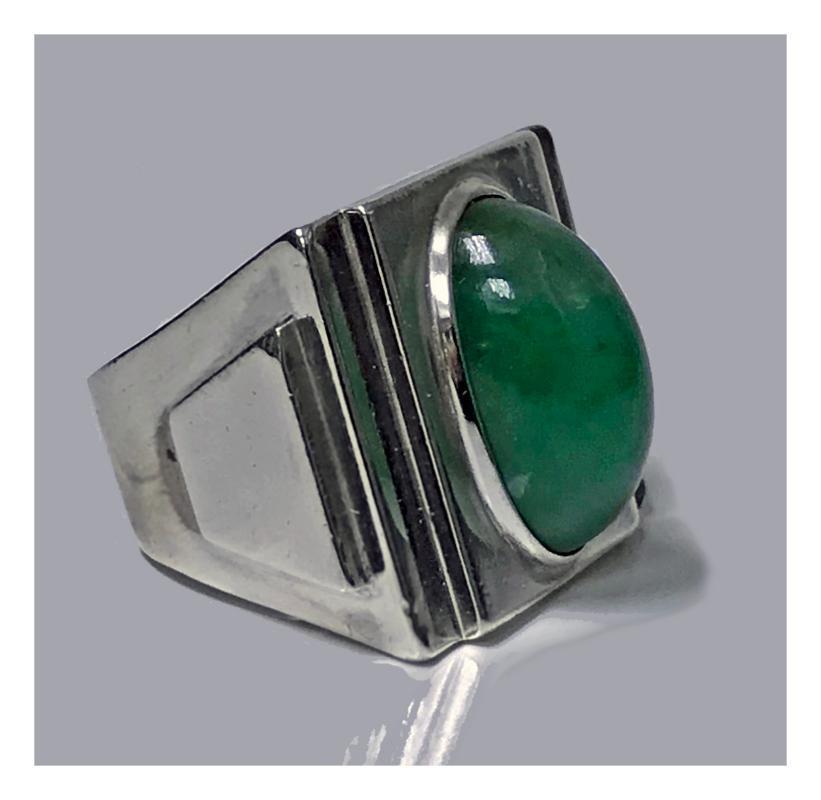French Art Deco striking design Ring, French import mark C.1920