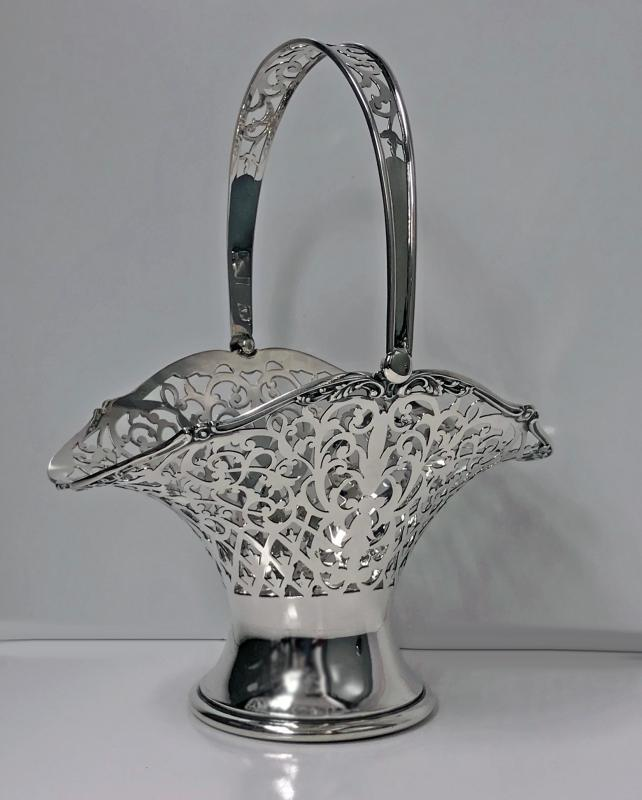 Sterling Silver Basket Birmingham 1923, Henry Matthews