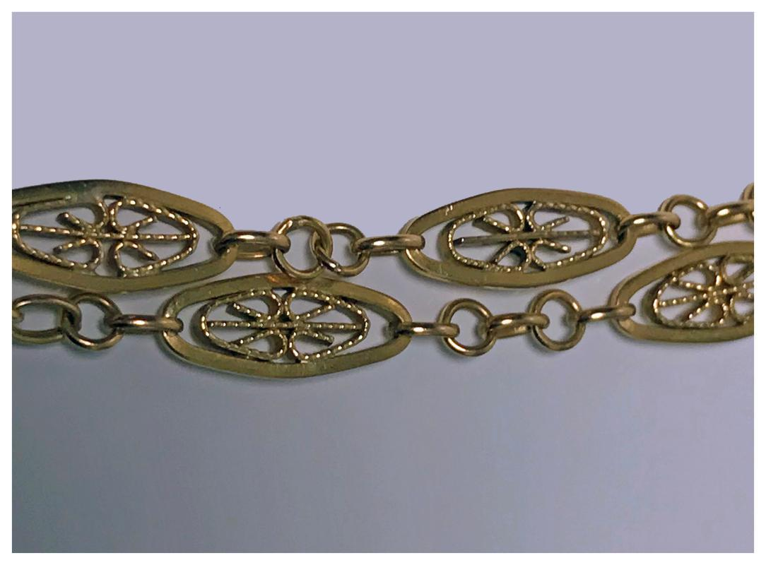 Antique French 18K Muff Chain, C.1890