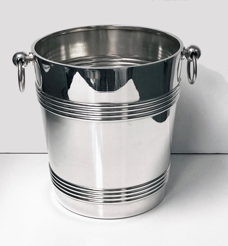 Art Deco Christofle Silver Plate Cooler, France C.1935
