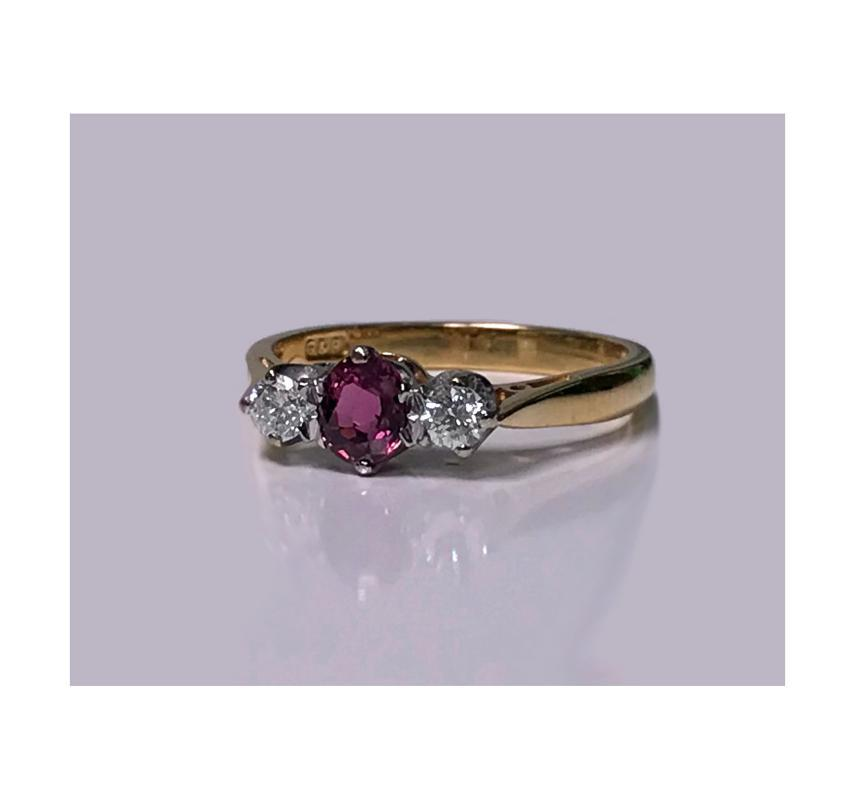18K Ruby and Diamond Ring, London 1986.