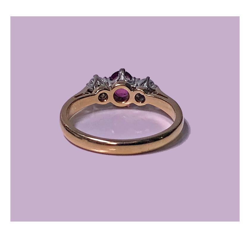 18K Ruby and Diamond Ring, London 1986.