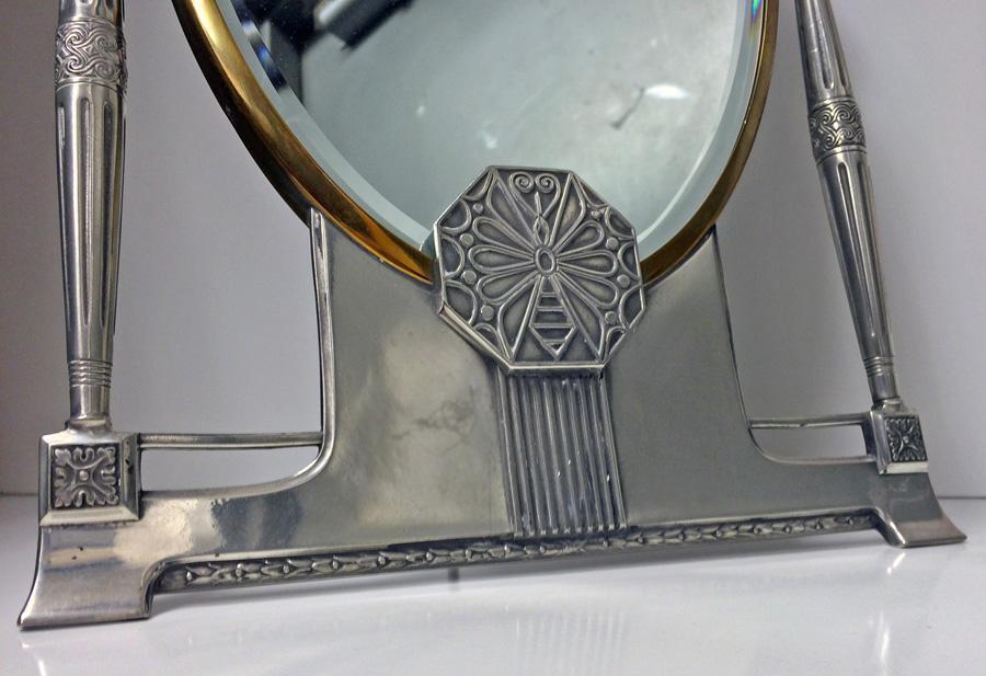 WMF Jugendstil Art Nouveau Secessionist Mirror, Germany C.1910