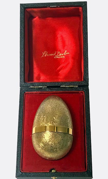 Stuart Devlin Silver Gilt Surprise Chicken Egg, London 1981