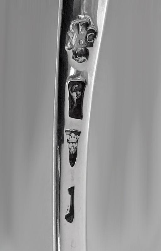 Georgian Silver Hanoverian Soup Ladle London 1764 Thomas and William Chawner