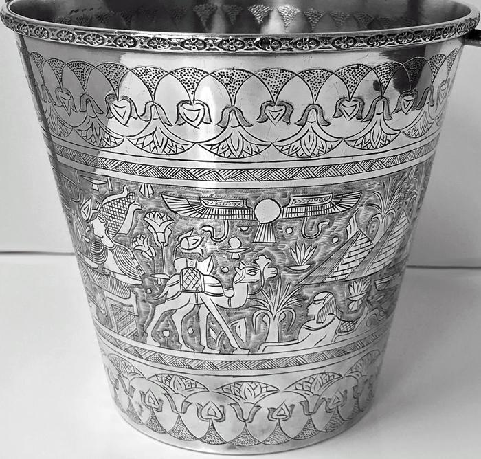 Egyptian Silver Wine Bucket, C.1920