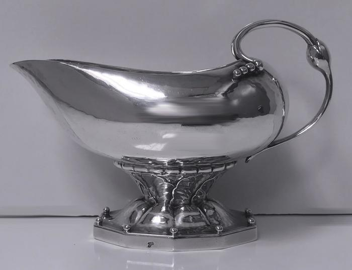 Georg Jensen Cream Sauceboat, 1915-30 mark, rare design No 181