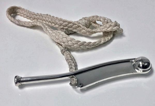 Sterling Bosun's Boatswain whistle, American C.1920