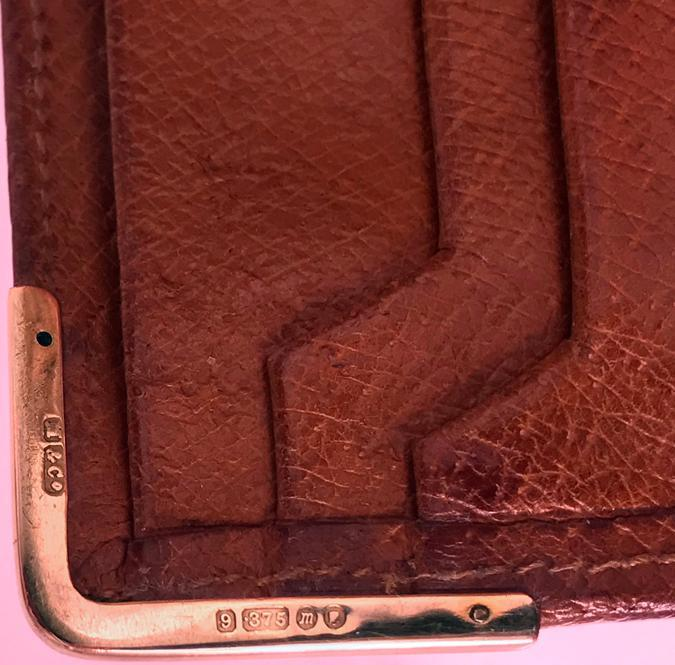 Gold and Leather Dunhill Wallet, London 1967