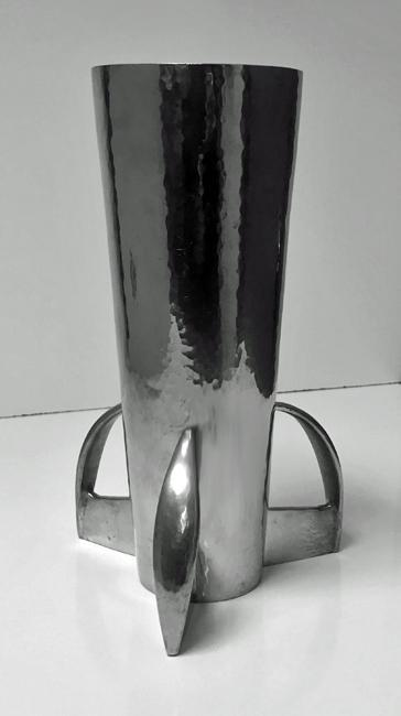 Archibald Knox for Liberty, Pewter Vase, C.1900