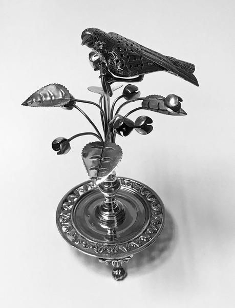 Antique Silver Toothpick Holder, Rio de Janeiro Brazil C.1850.
