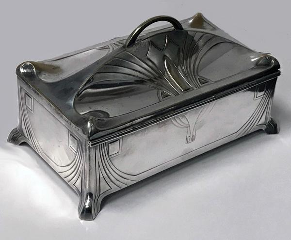 WMF Jugendstil Secessionist Silver plate Jewellery Box Germany, C.1906