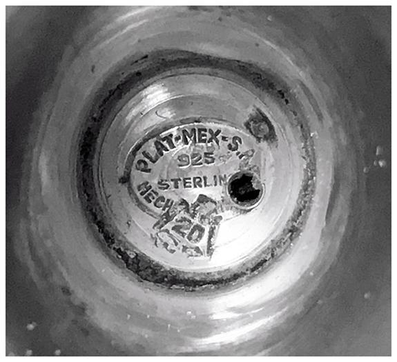 1950'S mid century Sterling Silver Hanukiah Menorah, Mexico