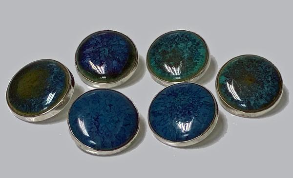 Rare A E Jones Set Silver Ruskin Buttons Birmingham 1903