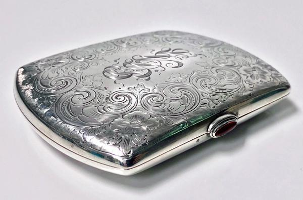 Sterling Silver Cigarette or Card Case, American C.1920.
