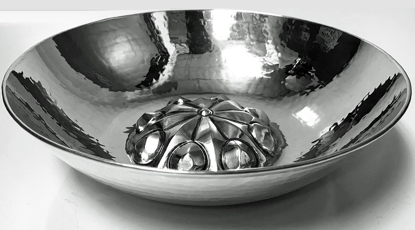 Mid Century Silver hammered Bowl, probably Eastern